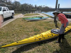 Photo: Staging kayaks