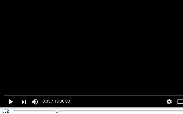 YouTube Speed Slider