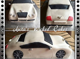 Bentley shaped car cake