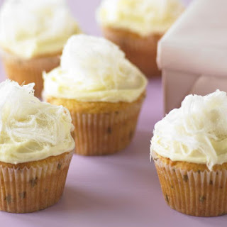 White Chocolate Cupcakes.