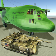 US Army Transport Game: Military Cargo Plane Games