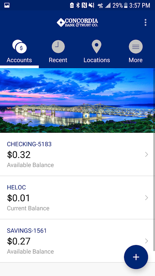 Concordia Bank Mobile- screenshot
