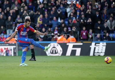Luka Milivojevic scoorde twee penalty's tegen Arsenal