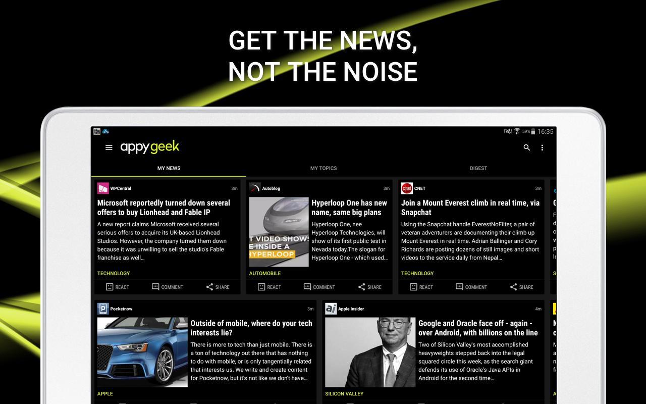Appy Geek – Tech news screenshot #14