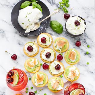 Sweet Pea Hummus Bites