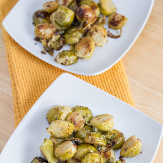 Mustard Roasted Brussels Sprouts with Capers.