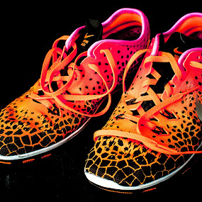 My Nike shoes ... by Jocelyne Maucotel - Artistic Objects Clothing & Accessories ( shoes, orange black, still life, pink, nike )