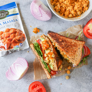 Mashed Red Curry Chickpea Sandwiches