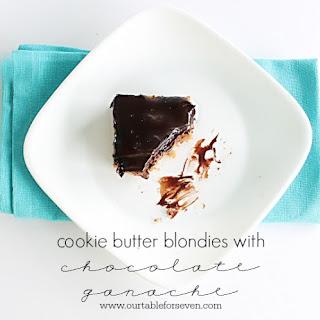 Cookie Butter Blondies with Chocolate Ganache