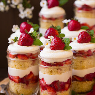 Strawberry Shortcake Trifles.