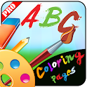 ABC coloring pages pro icon