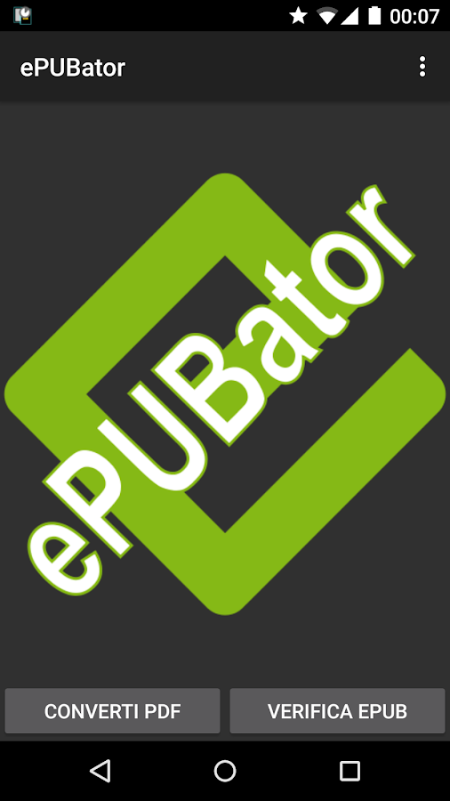 ePUBator- screenshot
