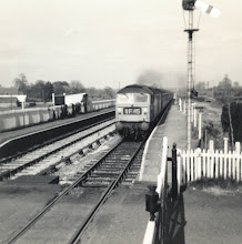 Photo: A down train from the steps of Ascott box (1970?)