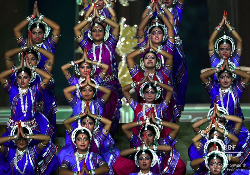 Photo: DELHI, INDIA - OCTOBER 03:  Entertainers perform during the Opening Ceremony for the Delhi 2010 Commonwealth Games at Jawaharlal Nehru Stadium on October 3, 2010 in Delhi, India.  (Photo by Feng Li/Getty Images)