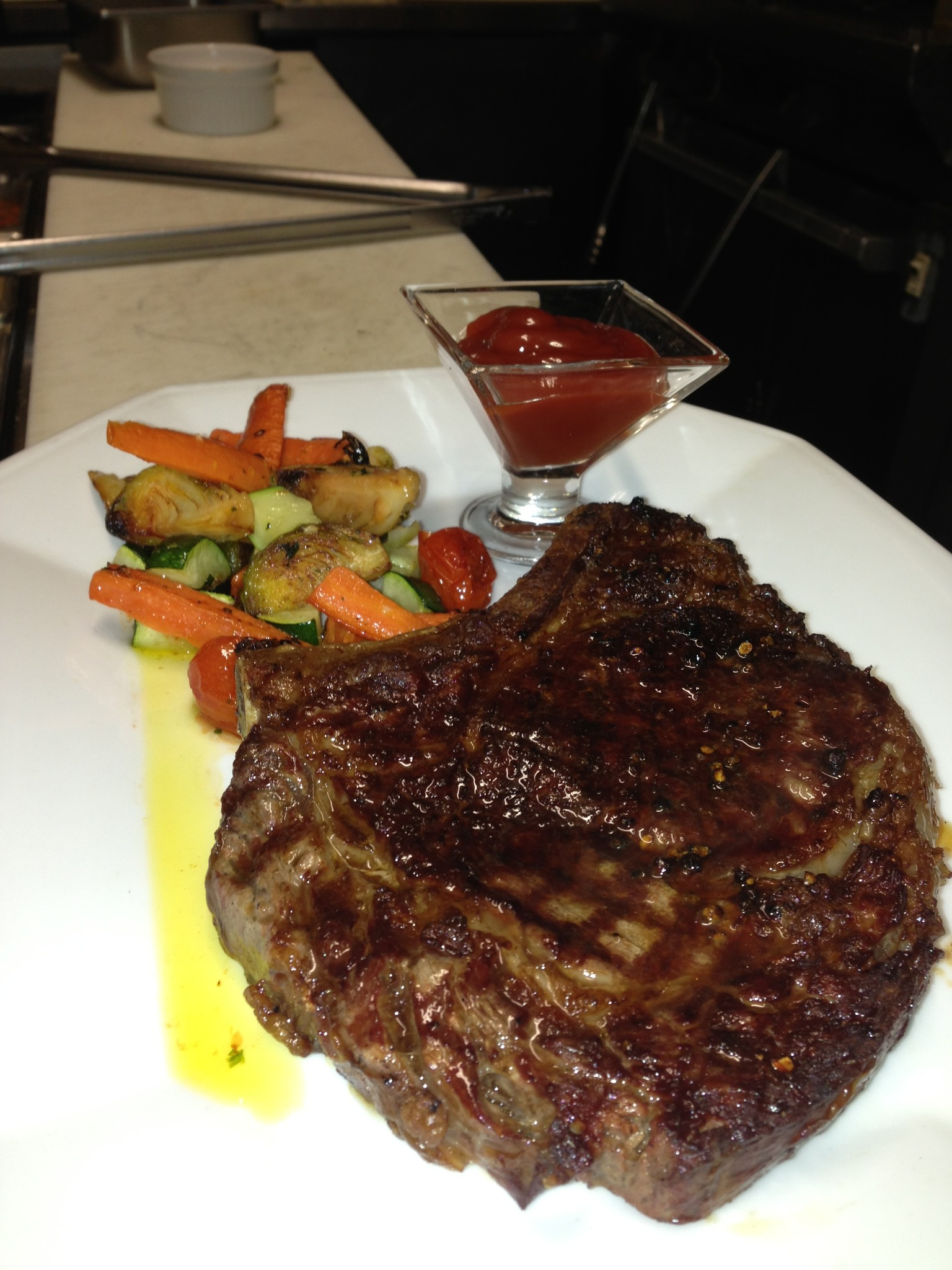 Photo: steak fritte at the kasbah in winthrop