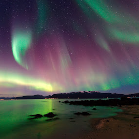 Geo magnetic storm by Marius Birkeland - Landscapes Starscapes ( reflection, sky, borealis, northern lights, aurora,  )