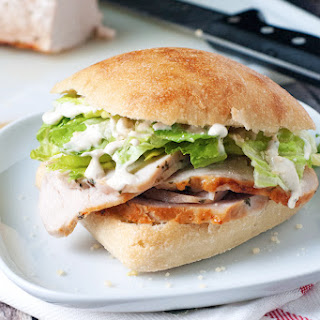 Caesar Pork Tenderloin Sandwiches.