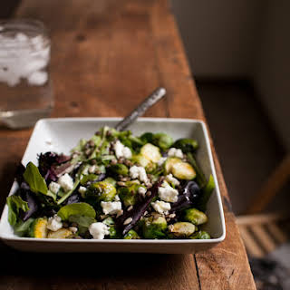 Roasted Brussels Sprouts and Lentil Salad.