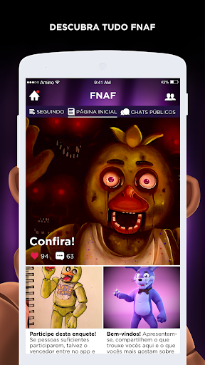 Pizzaria do Terror Amino para FNAF em Portuguu00eas 2.2.27032 screenshots 2