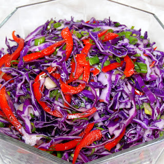 Red Cabbage Pepper Salad