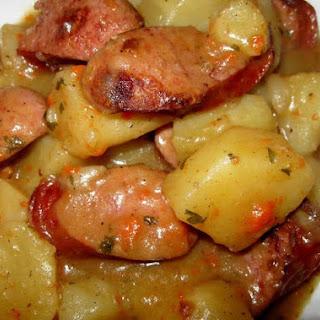 Savory Smoked Sausage and Potatoes.