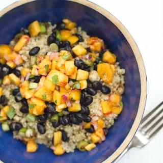Black Bean and Quinoa Bowl with Peach Salsa