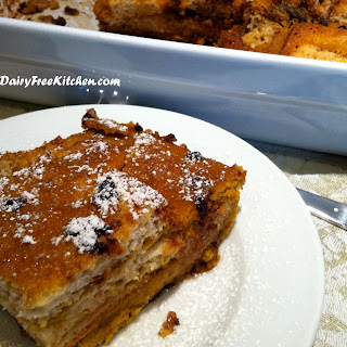 Baked Pumpkin French Toast - gluten free, dairy free, soy free