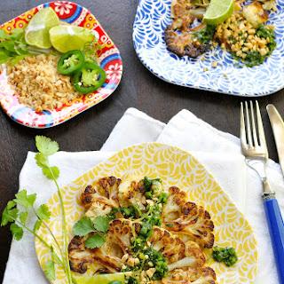 Thai Style Roasted Cauliflower Steaks.
