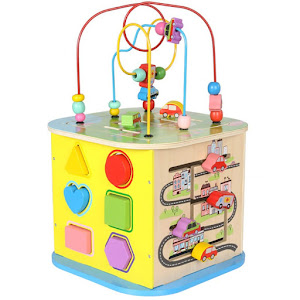 Cub interactiv din lemn, Montessori - Beilaluna