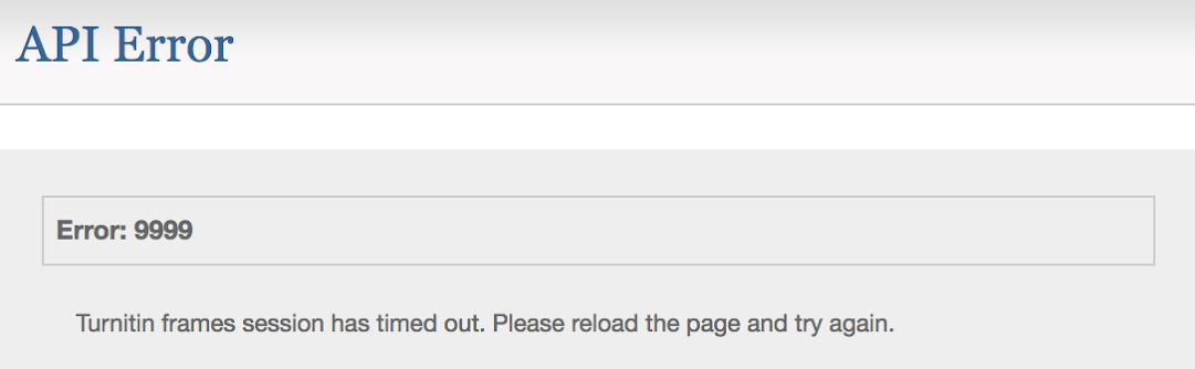 Turnitin Feedback Studio error message 2.