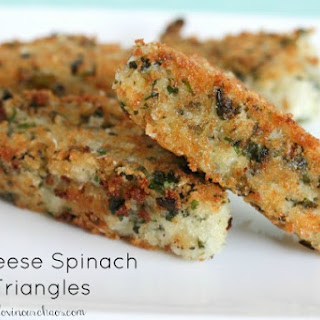 3 Cheese Spinach Triangles