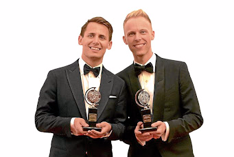 Benj Pasek and Justin Paul. Picture: GETTY IMAGES