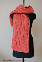 Photo: шарф-капюшон коса-коралл