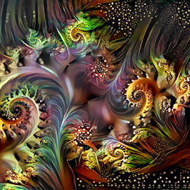 Spiral 63 by Cassy 67 - Illustration Abstract & Patterns ( digital, love, harmony, surreal, abstract art, trippy, abstract, fractals, digital art, psychedelic, modern, light, fractal, style, energy, fashion )