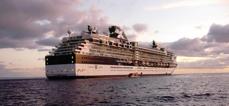 We liked this shot of Celebrity Millennium at daybreak off the coast of Hawaii.