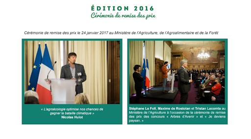 Nicolas Hulot et Stéphane Le Foll aux cérémonies de remises des prix du concours