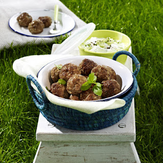 Kofta Egyptian Meatballs with Yogurt Dip.