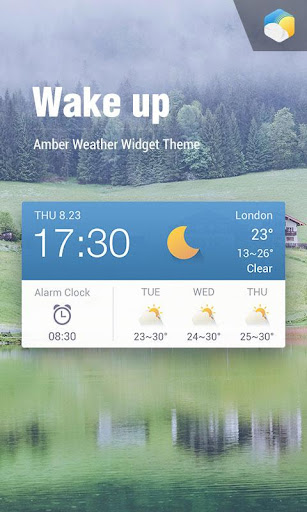 Alarm Clock Weather Widget  screenshots 1