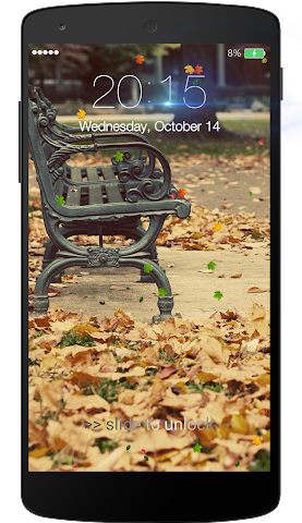 android Fall leaves Lock Screen Screenshot 5