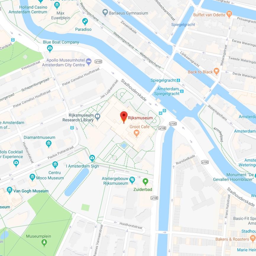 Plattegrond Van Het Rijksmuseum.Adres En Route Bezoekersinformatie Rijksmuseum