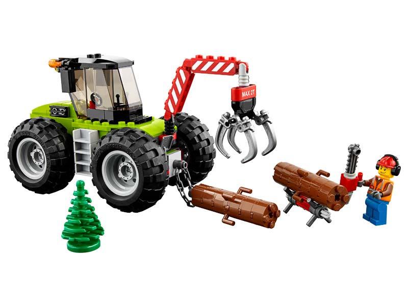 Contenido de Lego® 60181 Tractor Forestal
