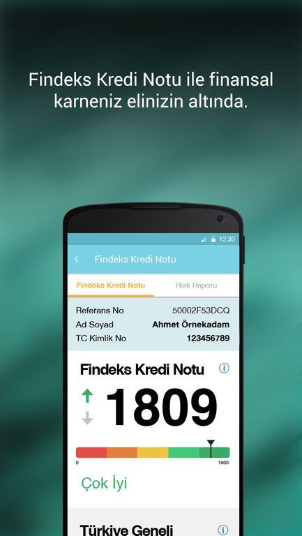 Findeks- screenshot