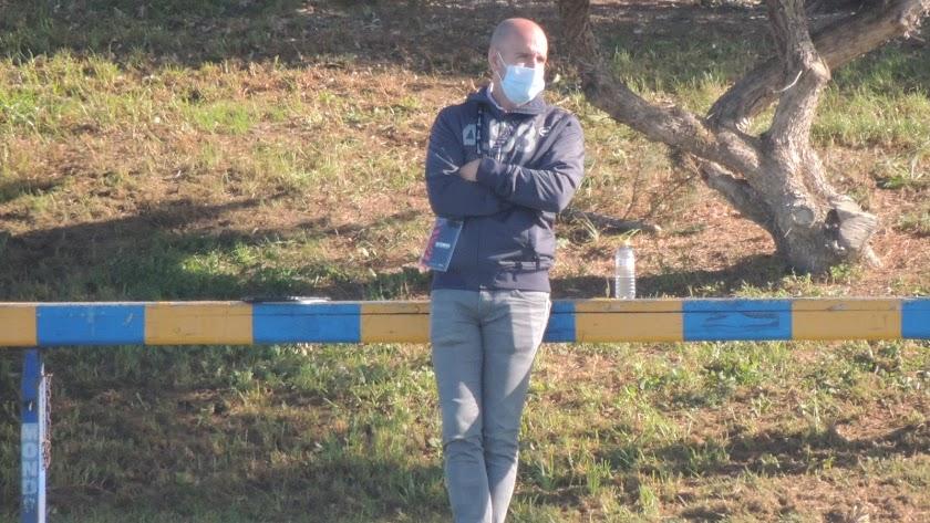 Gabriel Fernández Pacheco en el campo Anexo.