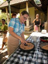 Photo: Making peanut sauce