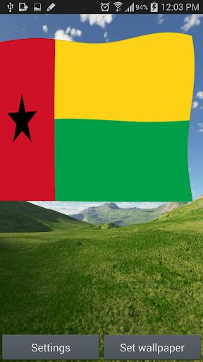 Guinea Flag Live Wallpaper 3D