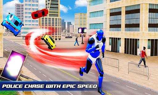 Grand Police Robot Speed Hero City Cop Robot Games 4.0.0 screenshots 4