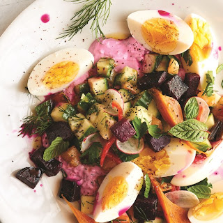Roasted Beet Tzatziki Salad.