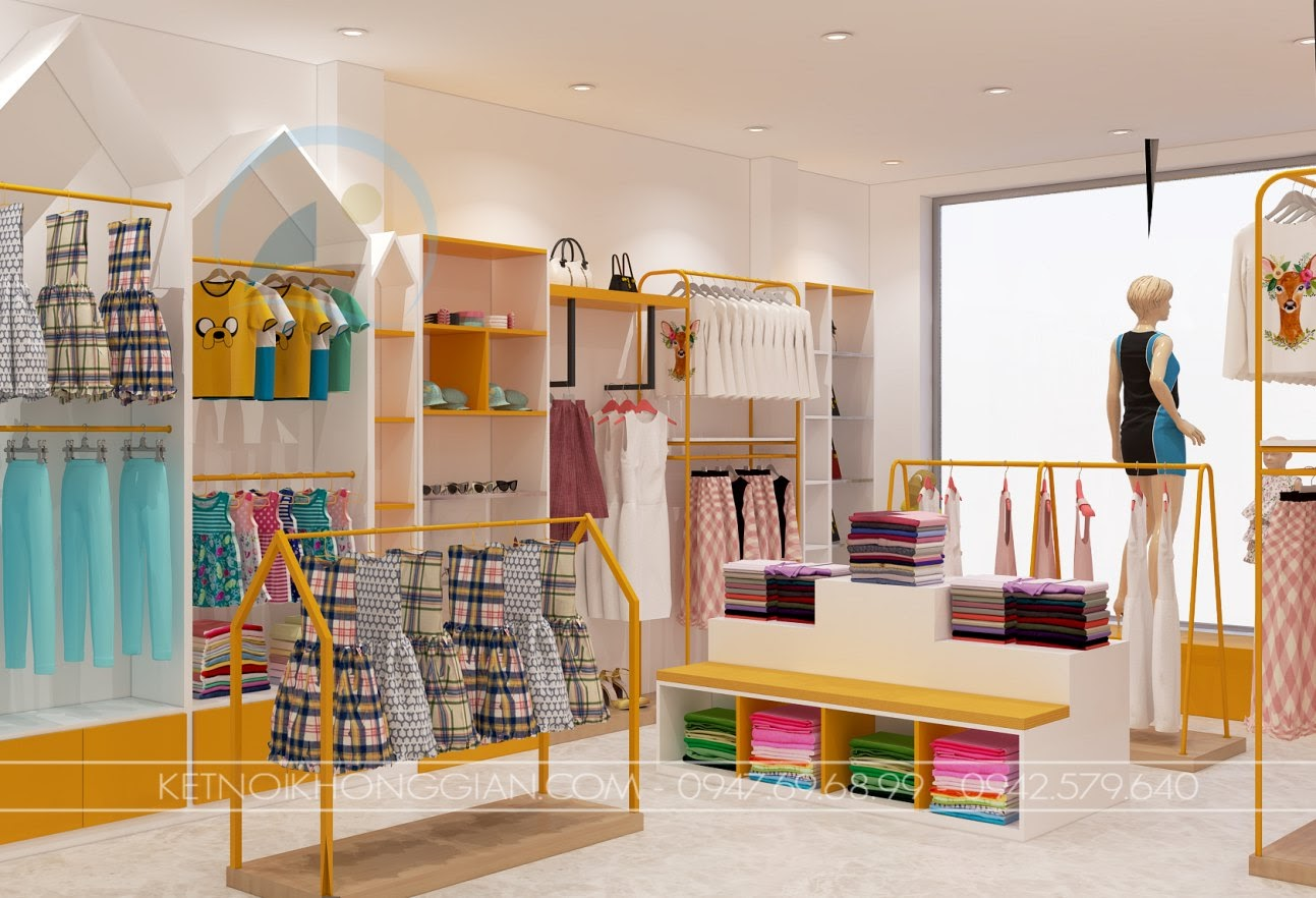 thiết kế shop mẹ và bé nhím store 10