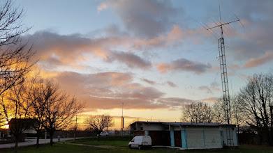 Photo: Coucher de soleil à F6KLO après la galette...
