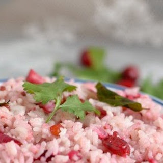 South Indian Style Cranberry Rice